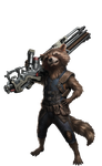 Rocket Raccoon Infinity War PNG by Gasa979