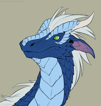 Atmos Dragon (flat color) by AidenMonster