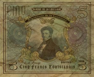 Five Louisianian Franc Note by Alt-Reality