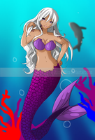 the ocean is deep and blue - mermaid by BloodyMizz
