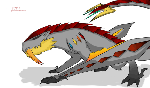 Barioth from Monster Hunter! by SleepyGhostIsHere
