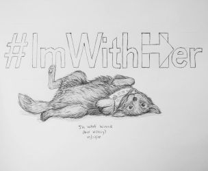 Inktober day 23 - #ImWoofHer by meihua