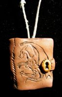 Dragon Leather Notebook Charm by thedustyphoenix