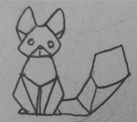 Rory | Origami kitty by Cosmic-Cola