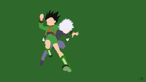 Gon  Killua | Hunter x Hunter Minimalist Anime by Lucifer012