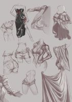 Drapery Studies by Chacobo