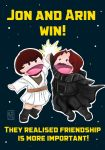Jon and Arin win! by kagekabuki