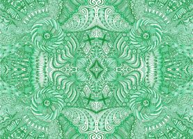 Green Mood Tiled by azzer100
