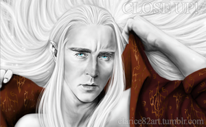 Thranduil ~ Sexy Red CU by RedPassion