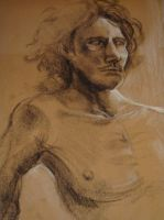Life Drawing Portrait by wikkedvenus