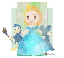 Cinderella and KH Mickey Donald by Milee-Design