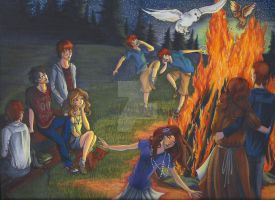 Bonfire with the Weasleys by Tobi-chan-Lissesul