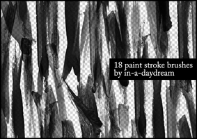 Paint Stroke Brushes by in-a-daydream