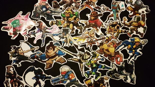 Overwatch Pixel spray stickers! by LZCCreations