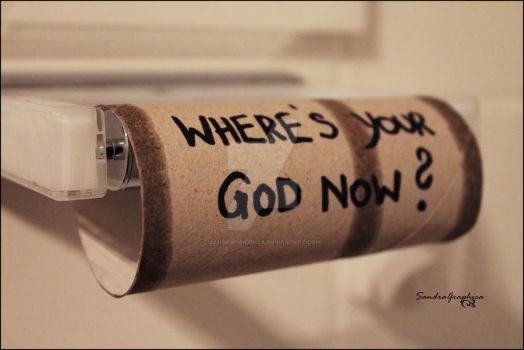 wheres your god now? by SandraGraphica