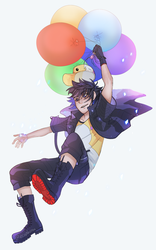 Noct with balloons by ecoplasm
