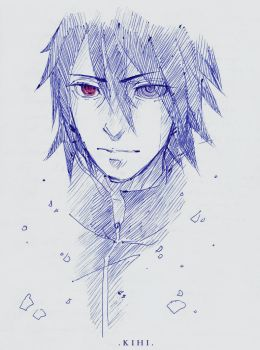 Sasuke pensketch. by Kihiart