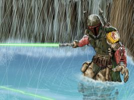 Boba fett Wallpaper by dmstei00
