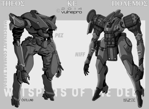 Taedus mercs Pez and Niff by VulnePro