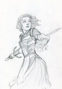 Claire character design by ElvenWhovian
