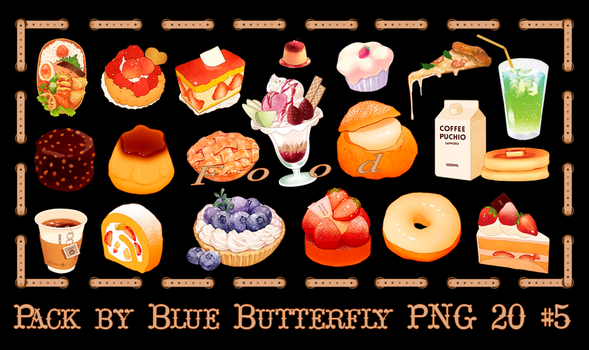 Pack by Blue Butterfly PNG 20 #5 by Butterfly-Blue-B
