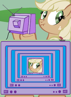 applejack fun by Cogs-Fixmore