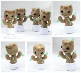 Mini Baby Groot Plush Toys by MyBeautifulMonsters