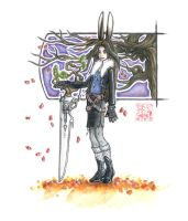 FFVIII+FFXII: Leon the Viera by windinmysails