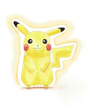 Pikachu watercolor by Seigner