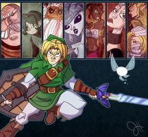 Ocarina of Time - 7 Sages by JoeHoganArt