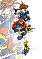 Sora Kingdom Hearts by Shodeku