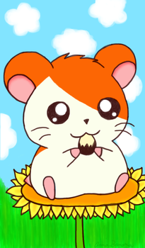 Hamtaro eating a sunflower seed by treehugginghalfasian
