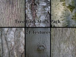 Tree Bark Texture Pack by piewedge-stock