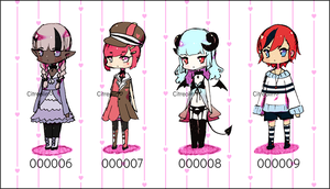 [OPEN 3/4] Set Price Adopts (000006 - 000009) by Citreolin