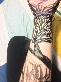 Waterpaint on arm by thisweirdnerdd