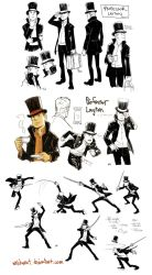 Professor Layton wratstyled by wredwrat