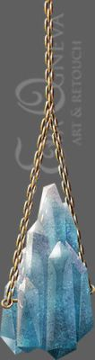 Crystal stack with golden chain stock by the-Scarlet-Queen