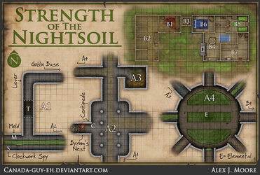 Strength Of The Nightsoil Map by Canada-Guy-Eh