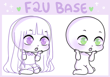 F2U - Surprised Chibi Base by esponjado