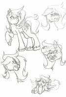Pony OC Canvas doodle page by Greeny-Star