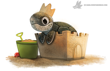 Daily Painting #940. (OG) King of the Beach by Cryptid-Creations
