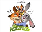 Zootopia Nick, Judy and Meloney. by sgtjack2016