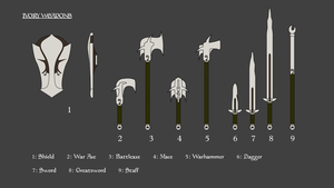 Ivory Weapons Concept Skyrim by hallgarth