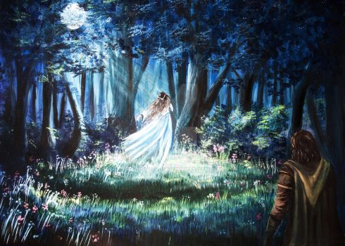 Beren and Luthien by Aronja