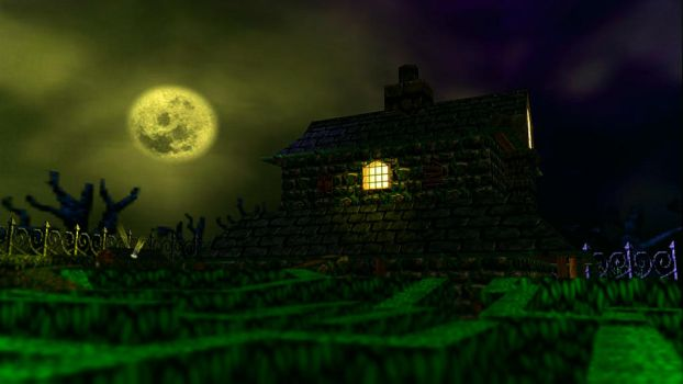 A Full Moon's Night in Mad Monster Mansion by SoColdArtwork