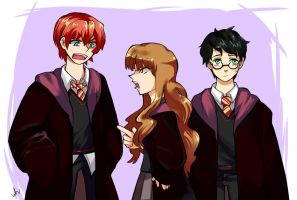Golden Trio by skywet