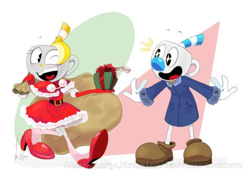.::A Gift for Mugman!::. by MercuryJin