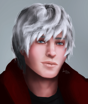 a portrait with Dante by Lady-Scythe