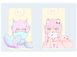 --- FOODCHIES 3 and 4 --- SET PRICE - [ CLOSED ] by demialien