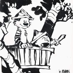 Calvin and Hobbes by AlexandraBowmanArt